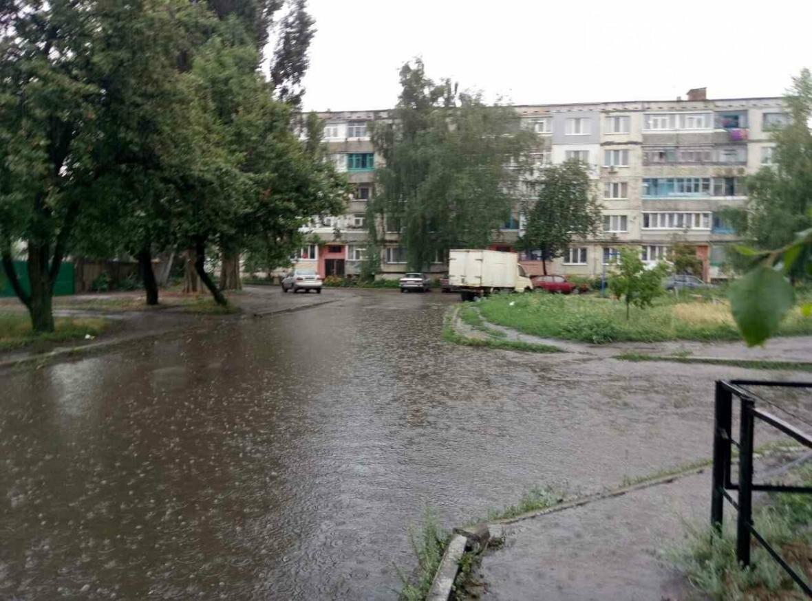В Павлограде ливень: дороги превратились в реки (Фото), фото-9
