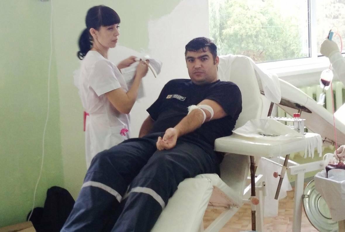Павлоградські рятувальники вперше стали донорами, фото-1