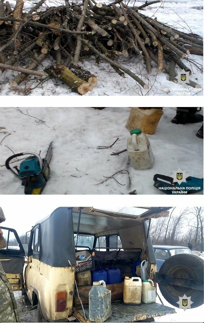 Поліцейські Юр'ївщини затримали чоловіків, які незаконно вирубували дерева, фото-1