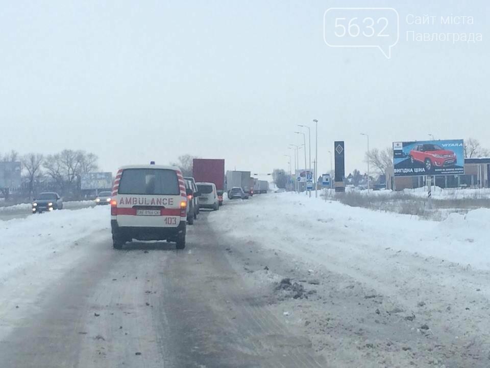 Застрявшие фуры парализовали трассу на Павлоград, фото-1