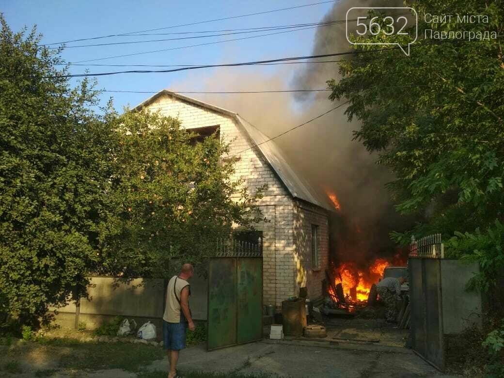 Під час пожежі в приватному секторі Павлограда постраждав чоловік (фото,відео), фото-4