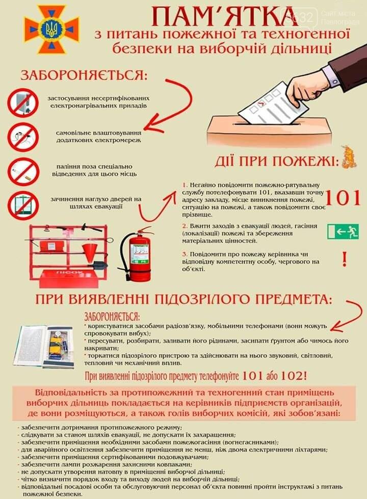 Вибори-2019: рятувальники Павлограда нагадали про основні правила пожежної та техногенної безпеки, фото-1
