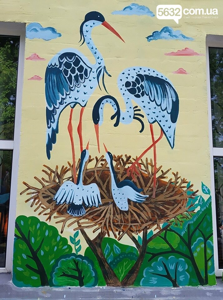 На дитячій бібліотеці в центрі Павлограда з'явився «екологічний» мурал, фото-3