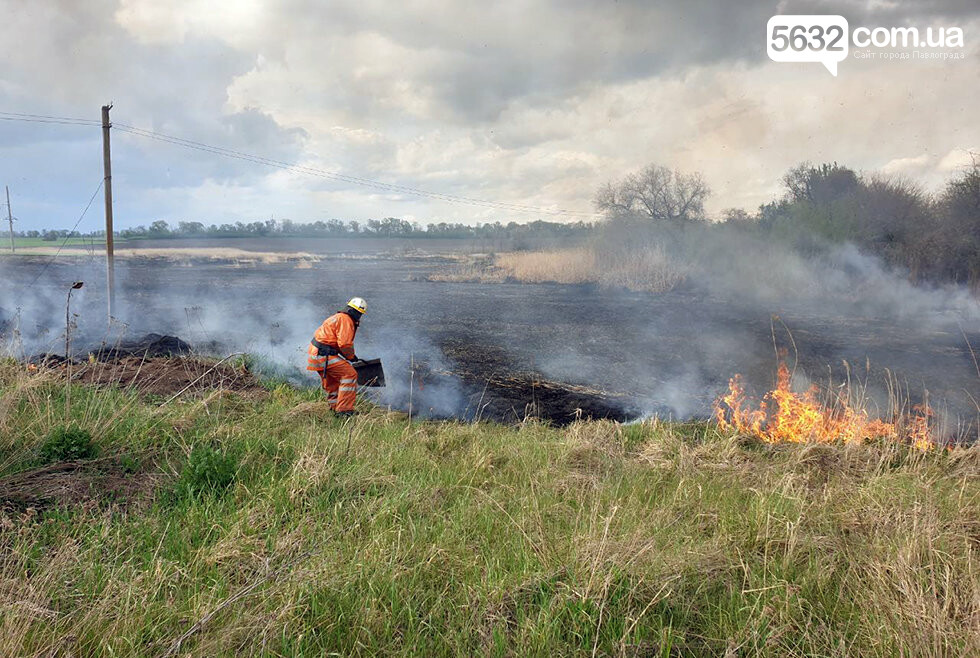 В Юрьевском районе выгорело 3 га сухой травы (ВИДЕО), фото-4