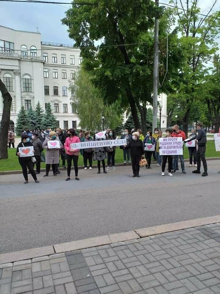 Под стенами Днепропетровской ОГА митинговали жители Троицкой и Межиричской ОТГ, фото-5