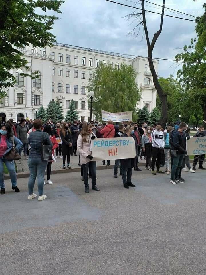 Под стенами Днепропетровской ОГА митинговали жители Троицкой и Межиричской ОТГ, фото-6
