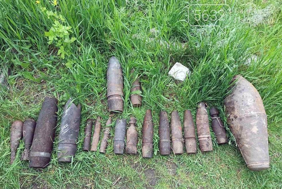 Житель Булаховки во время прогулки обнаружил целый арсенал боеприпасов, фото-1