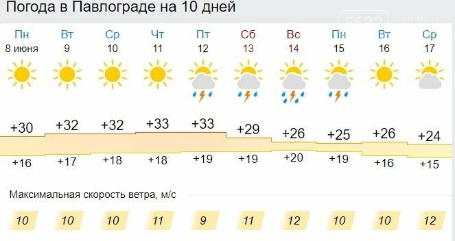 Павлоградцев ждёт жаркая неделя, которая закончится грозами, фото-1