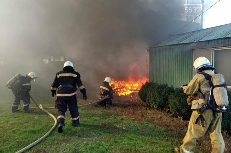 В Богуславе сгорел автомобильный трейлер (ВИДЕО), фото-1