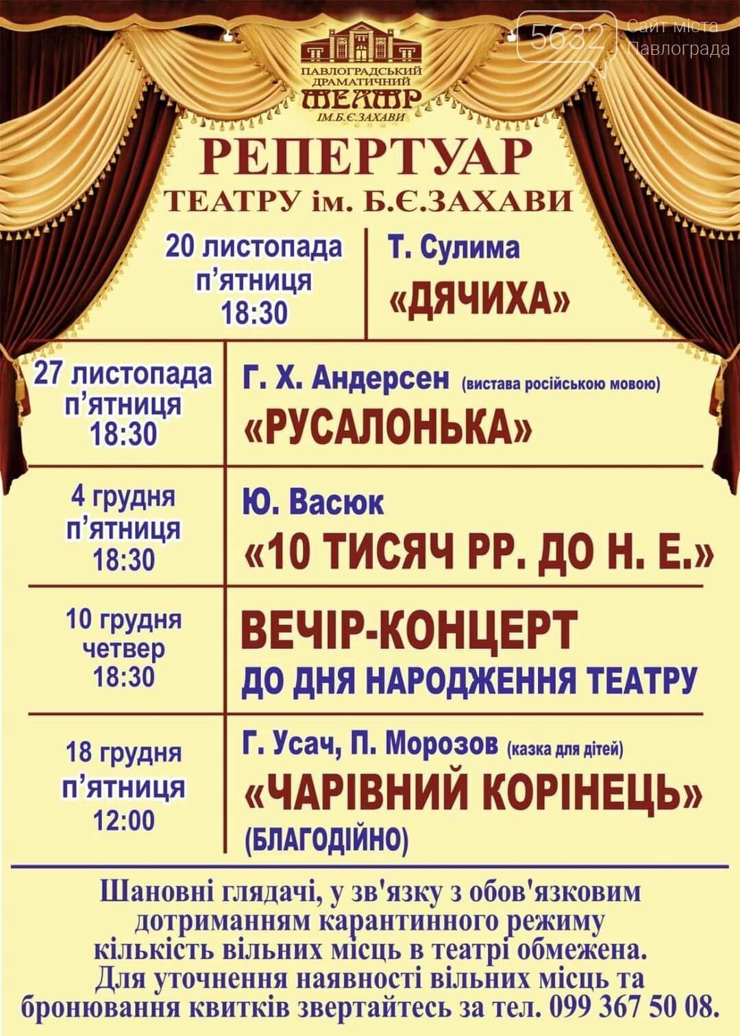 Из-за карантина выходного дня Павлоградский драматический театр переносит свои спектакли, фото-1