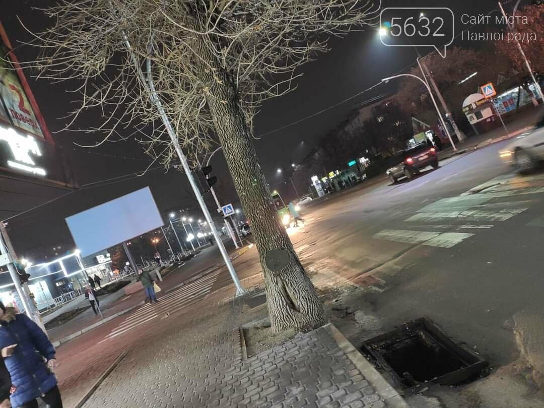 В центре Павлограда вор пытался украсть решётку с ливнёвки, фото-2