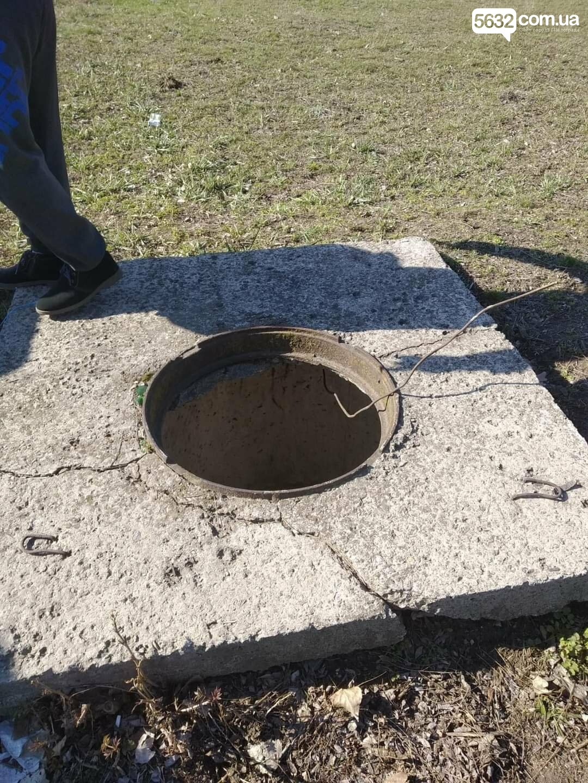 В Павлограде спасли дворняжку, упавшую в 3-метровый колодец, фото-1