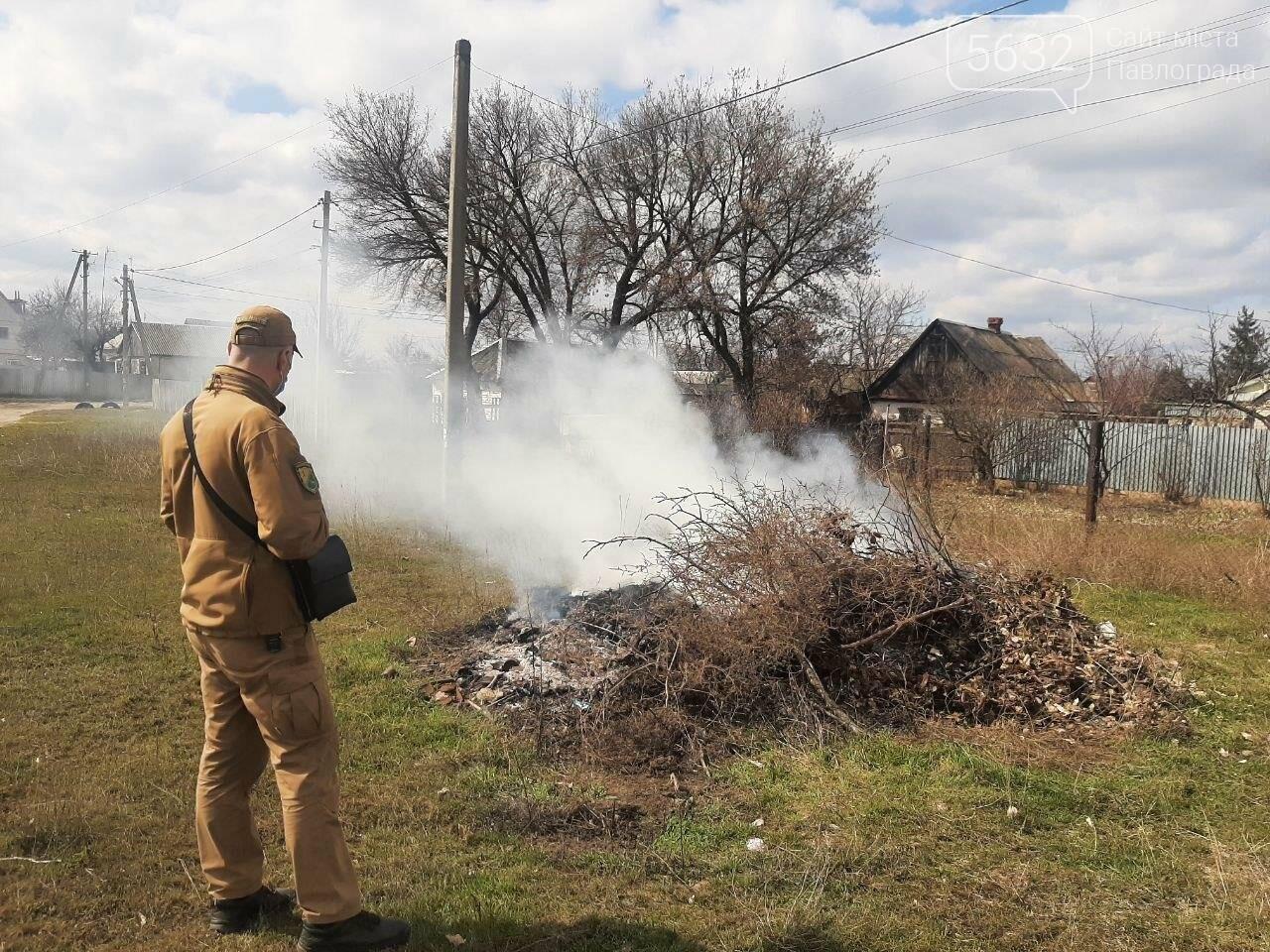 В Павлограде начались рейды по выявлению случаев сжигания сухой травы и листвы, фото-1