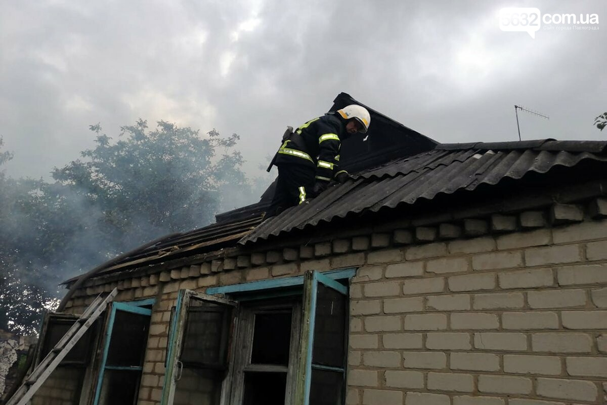 В Павлоградском районе горел жилой дом (ФОТО), фото-1