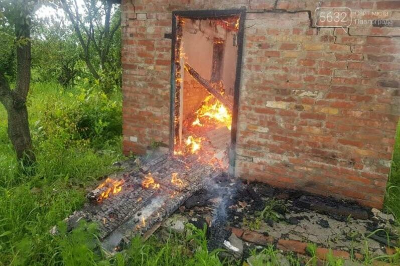В садовом обществе «Химик» в Павлограде тушили пожар в заброшенном доме, фото-3