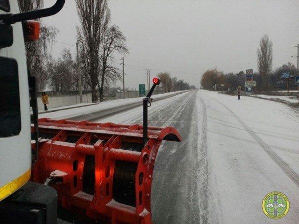 Западные районы Днепропетровщины уже накрыло снегом, фото-1