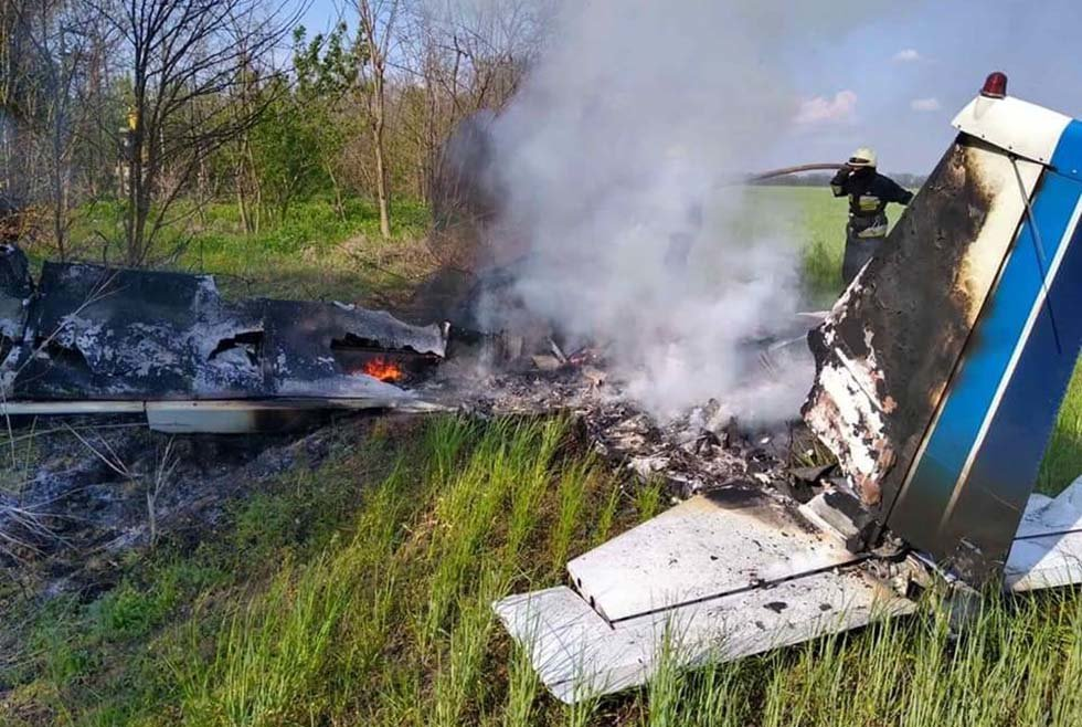 В результате падения самолета на Днепропетровщине погибли 2 человека, фото-2