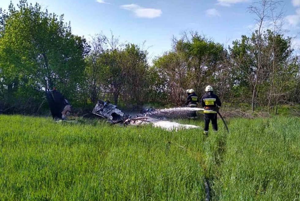 В результате падения самолета на Днепропетровщине погибли 2 человека, фото-1