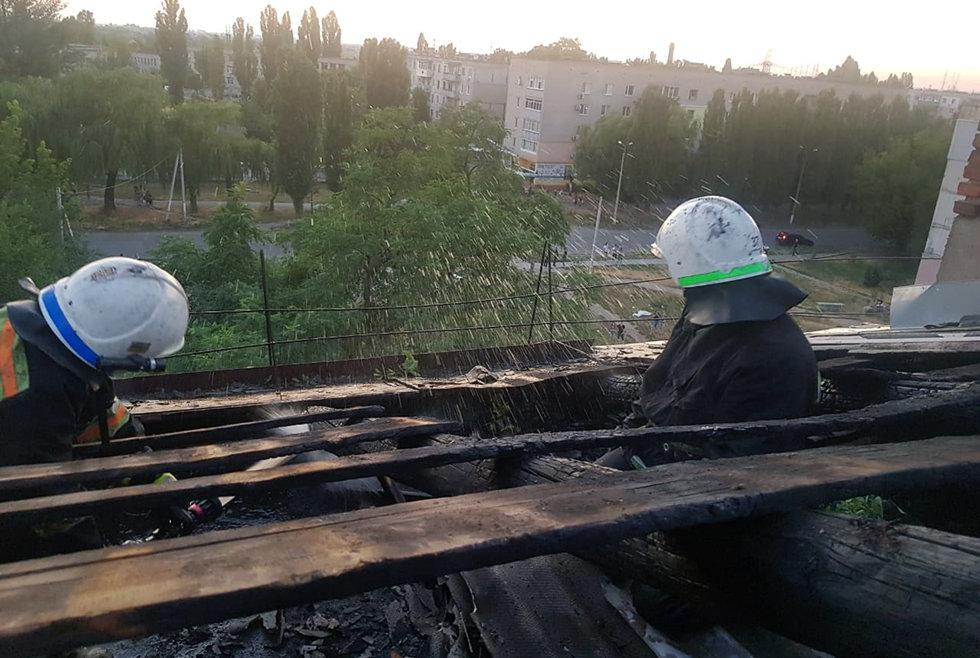 В Павлограде на Западнодонбасской тушили пожар в 5-этажном доме (ФОТО), фото-1
